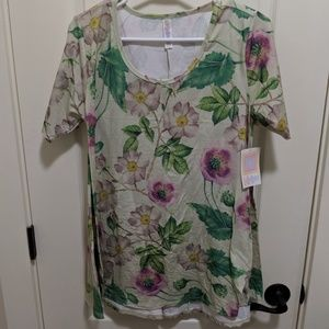 Lularoe XS Perfect tee floral magnolia